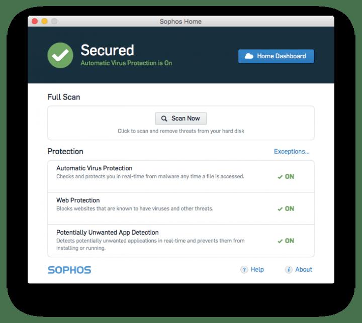 Sophos Antivirus Mac Home Edition