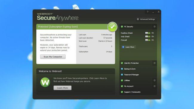 Webroot SecurityAnywhere Antivirus 2017