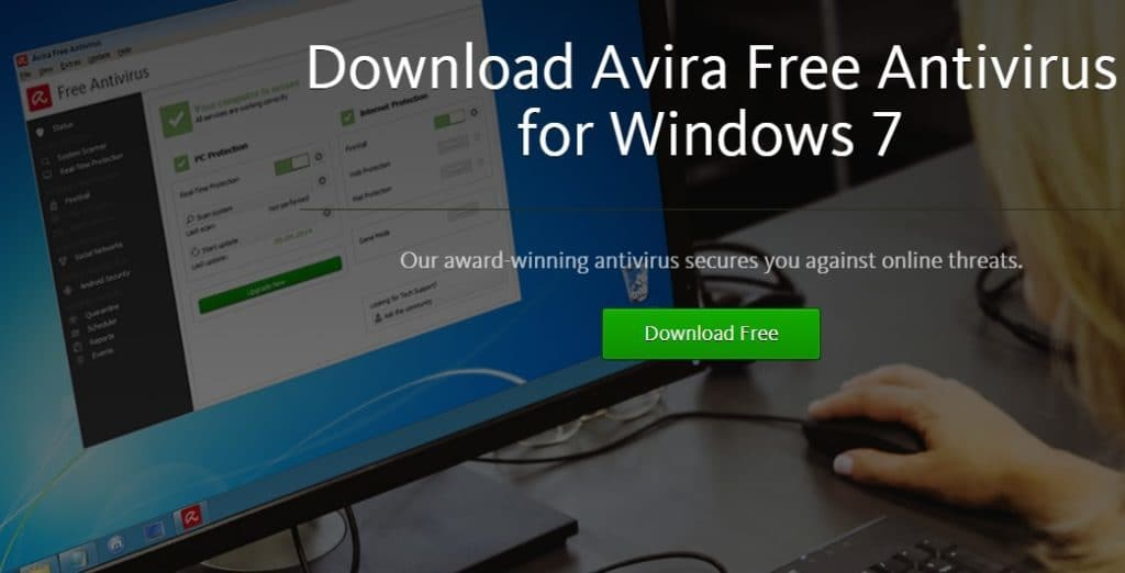 Avira Antivirus pour Windows 7