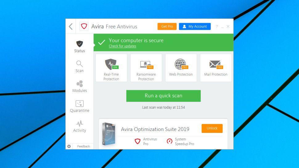 Test de Avira Free Antivirus