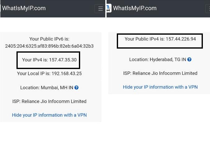 changer l'adresse IP