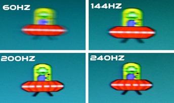 60Hz vs 144Hz vs 240Hz